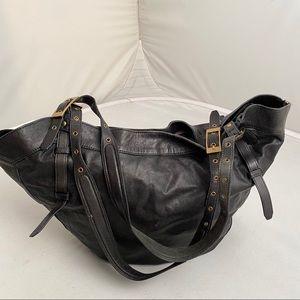 Kooba Black leather tote bag